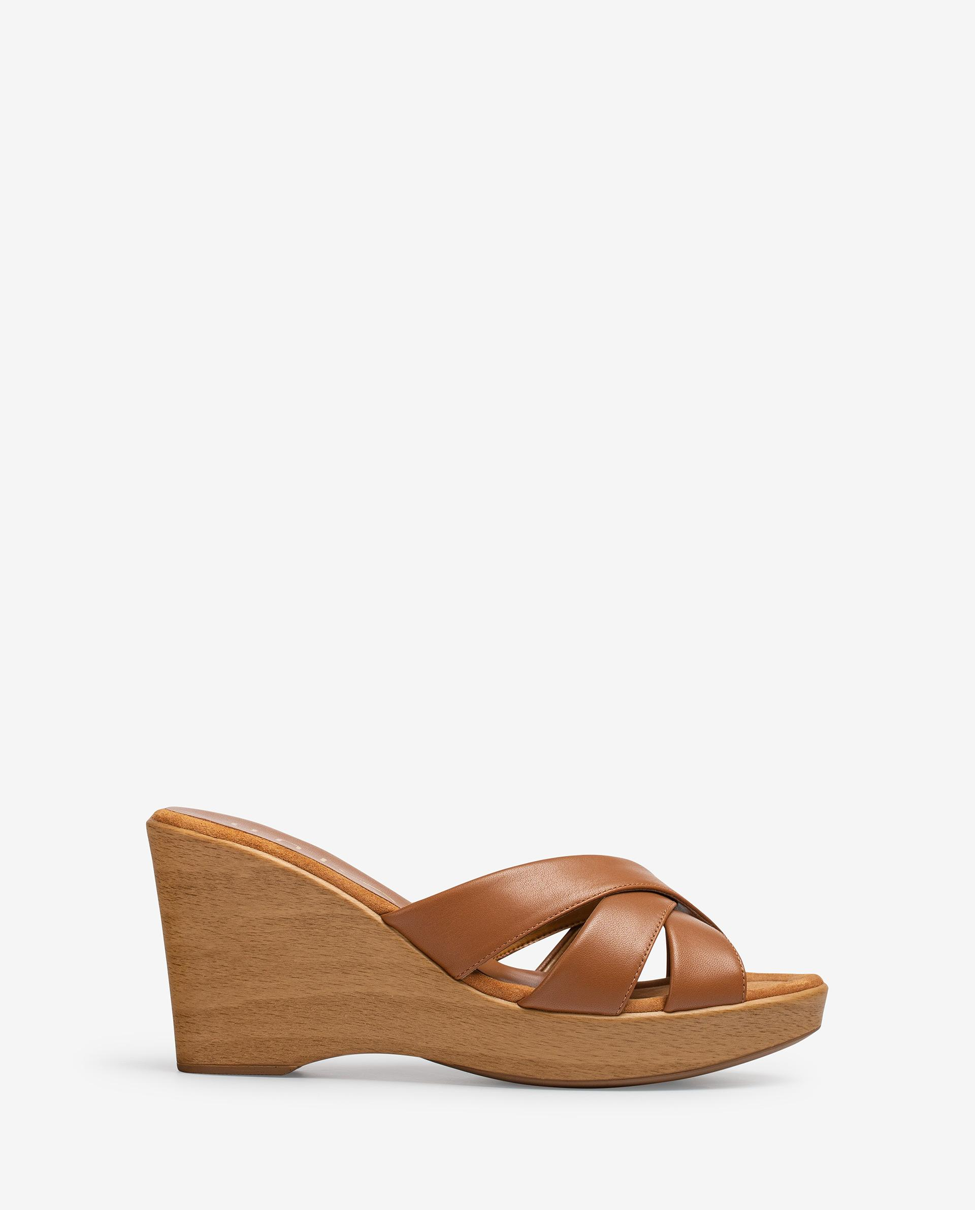 UNISA Wood effect leather mules RESINES_NA 2