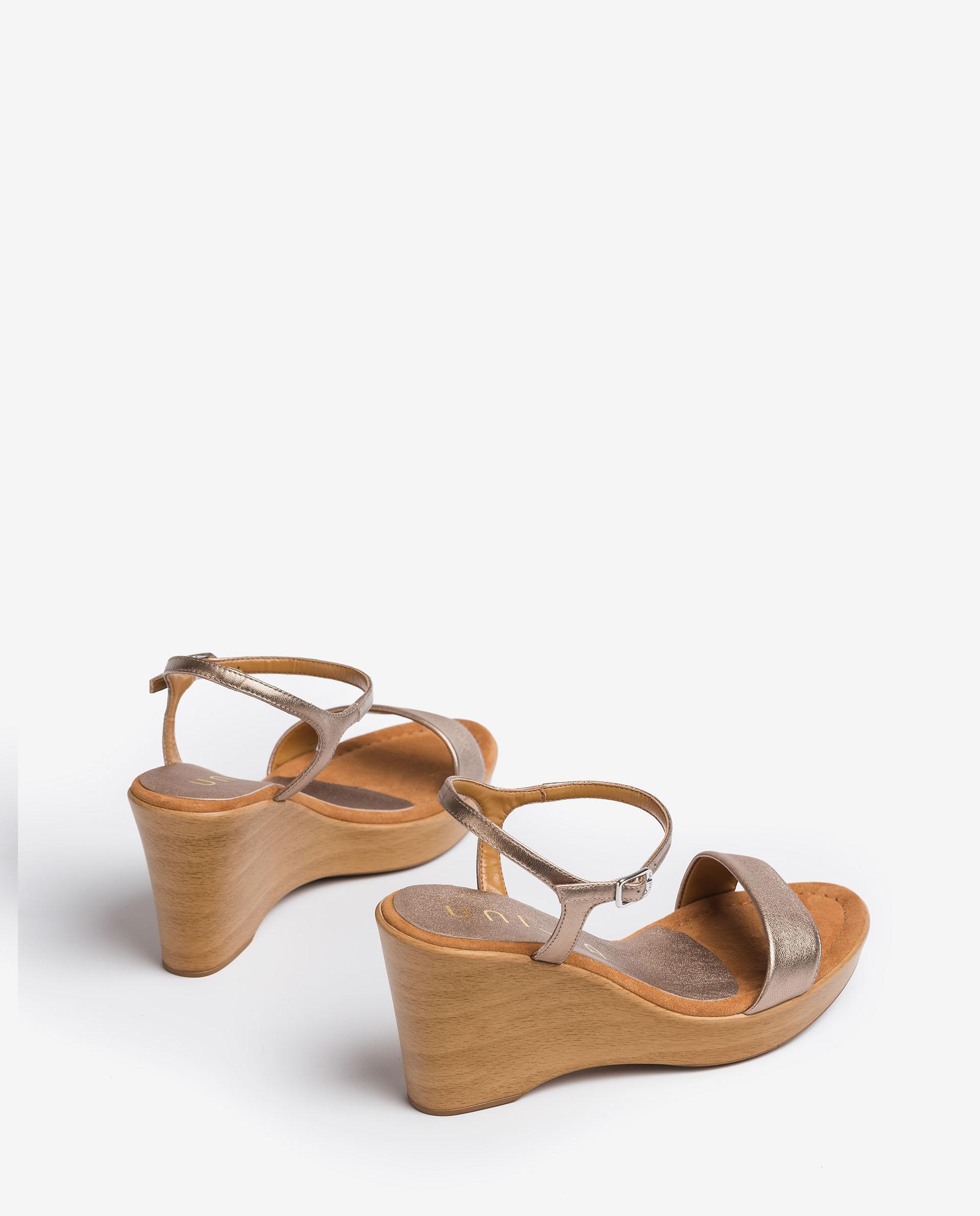 UNISA Metal effect leather sandals RITA_21_LMT 2