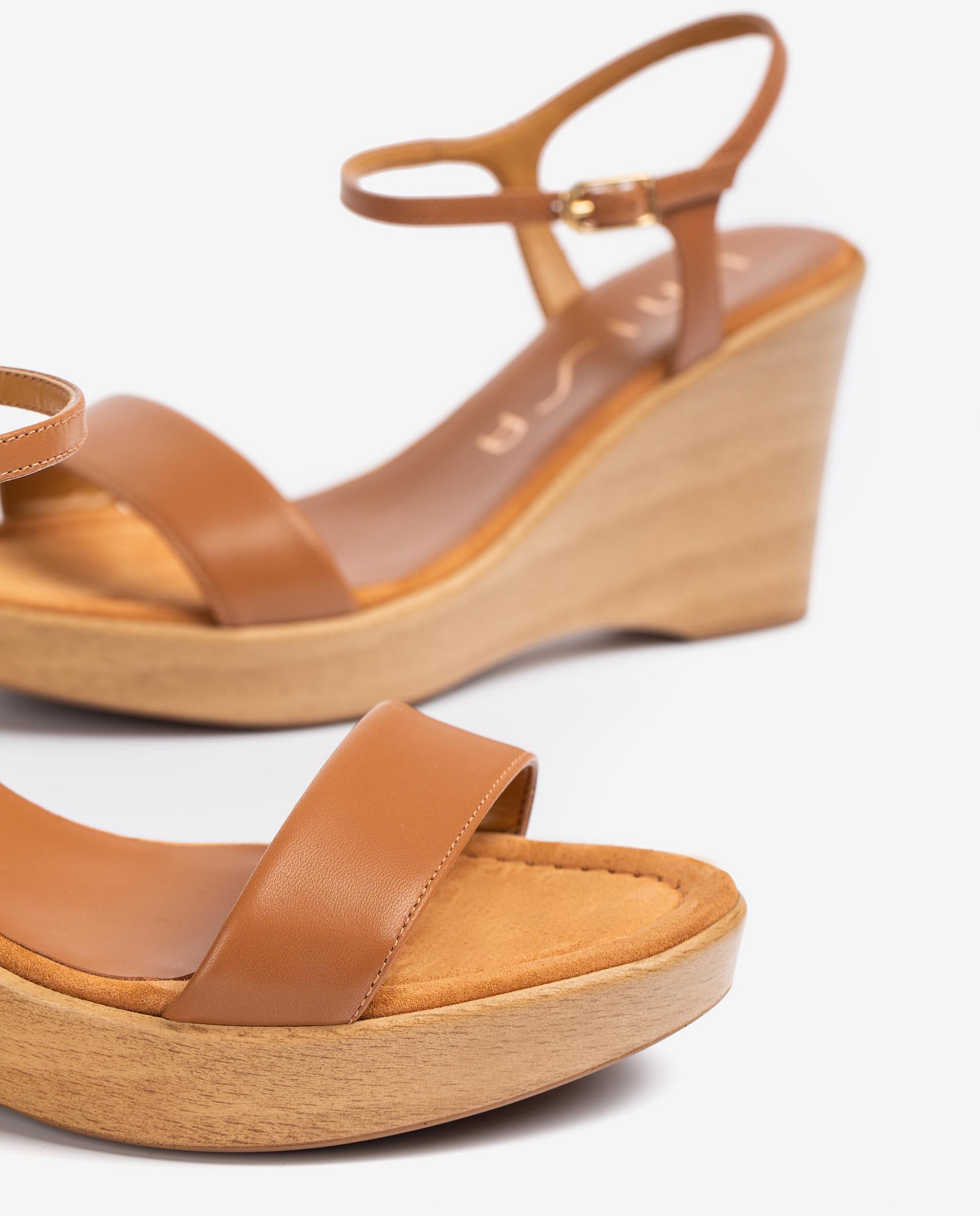 UNISA Leather wedge sandals RITA_21_NA 2