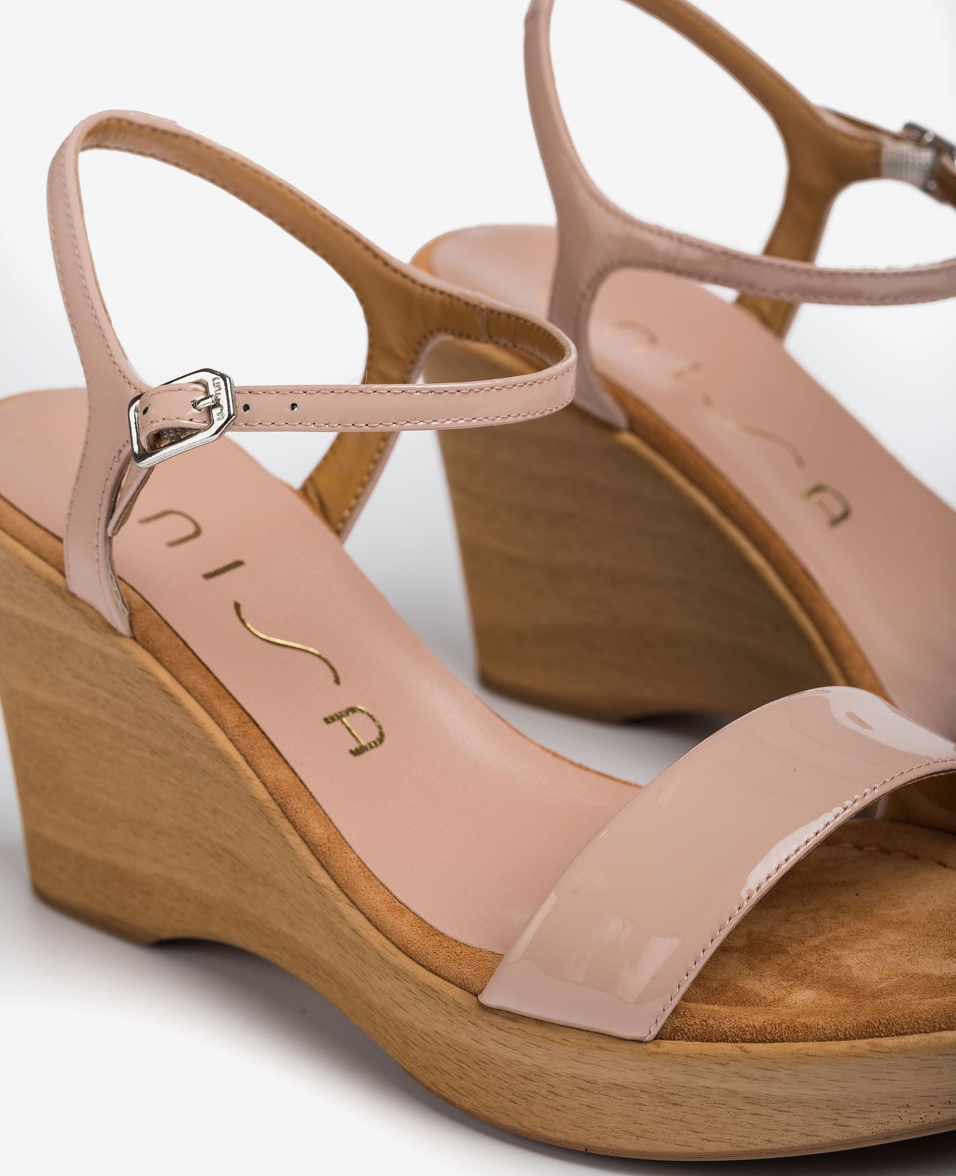 UNISA Patent leather wedge sandals RITA_21_PA 2