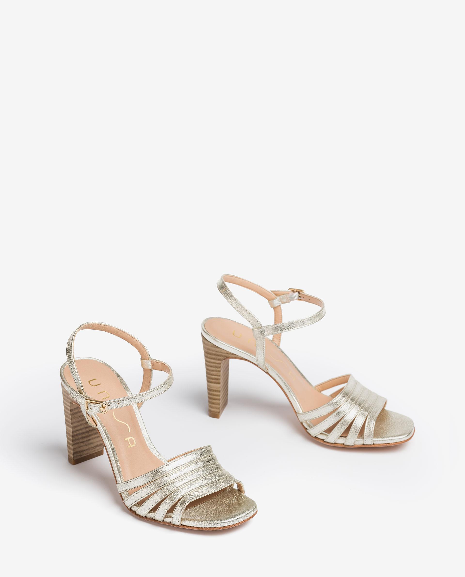UNISA Shiny effect leather sandals with high heel SALDES_SE 2