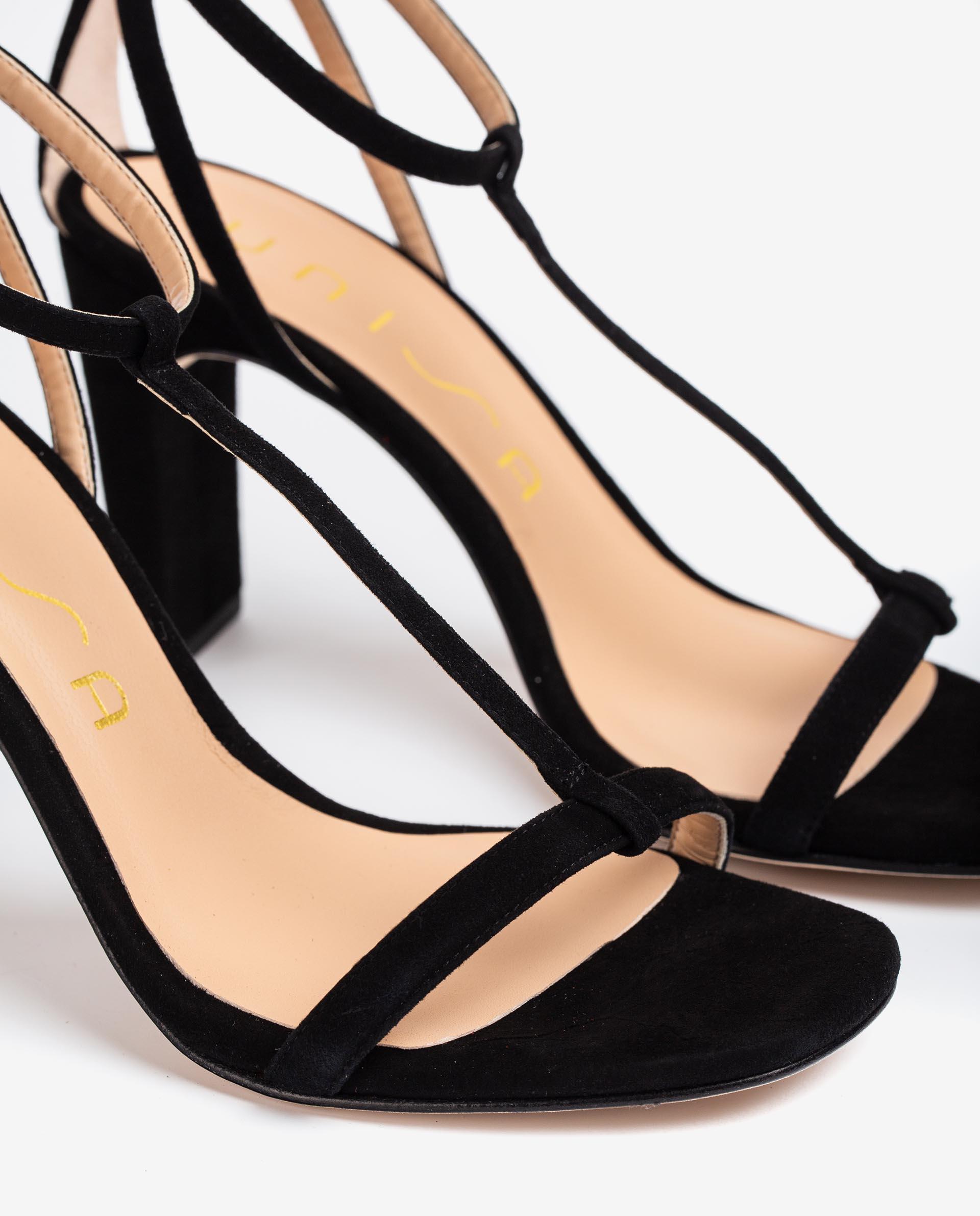UNISA Kid suede crossed straps sandals SETI_KS 2