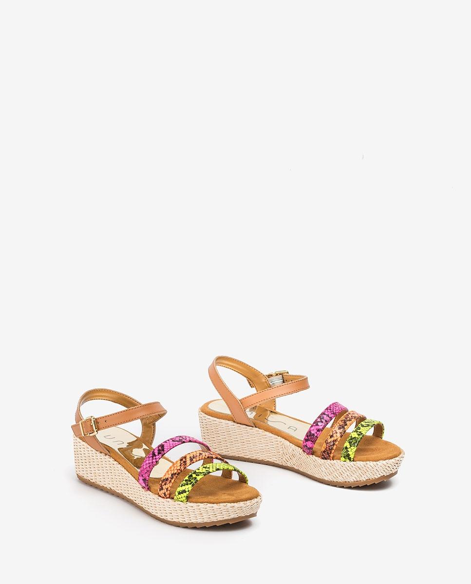 UNISA Little girl multi sandals TALENT_R_RT_NF lime multi 2