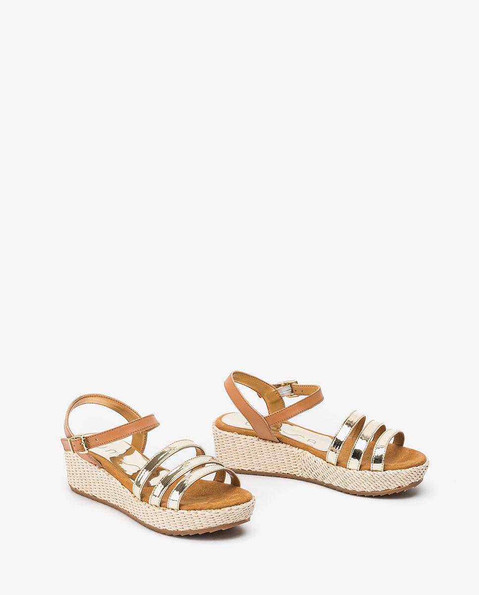 UNISA Little girl contrast wedge sandals TALENT_R_SP_NF platino 2