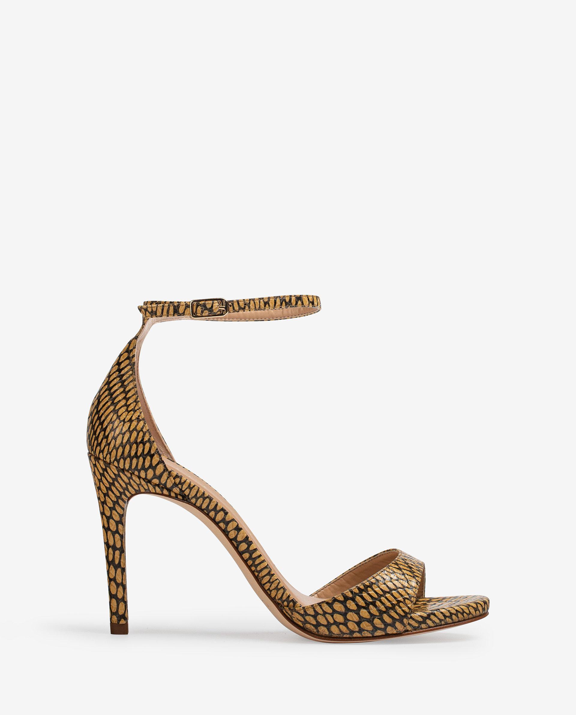 UNISA Snake effect leather sandals YAGUE_MA 2