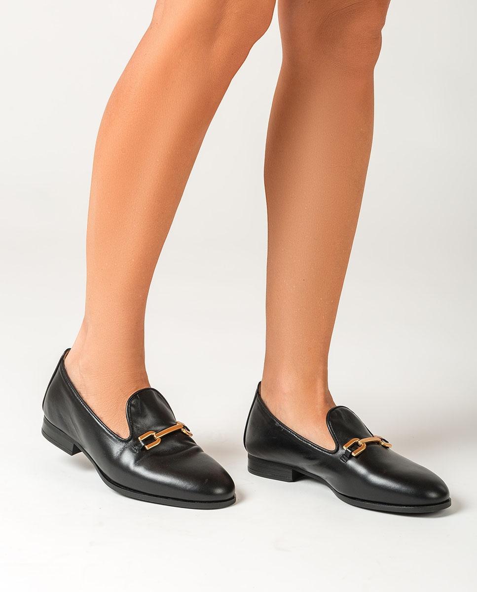 UNISA Black leather slippers DOLFI_NA black 2