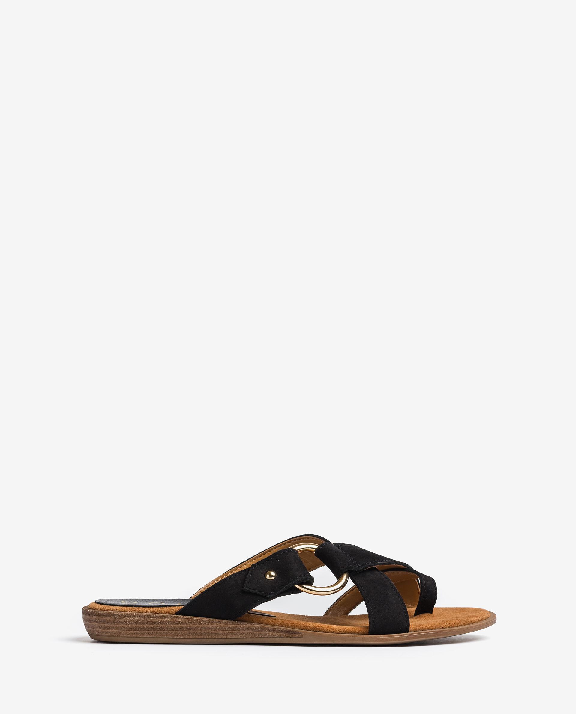 UNISA Sandals with metal detail ADRIEL_BLU 2