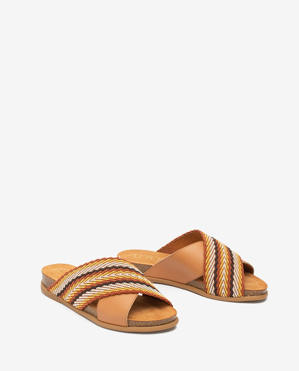UNISA Ribbon contrast sandals CHIVAS_NF  cuoio 2