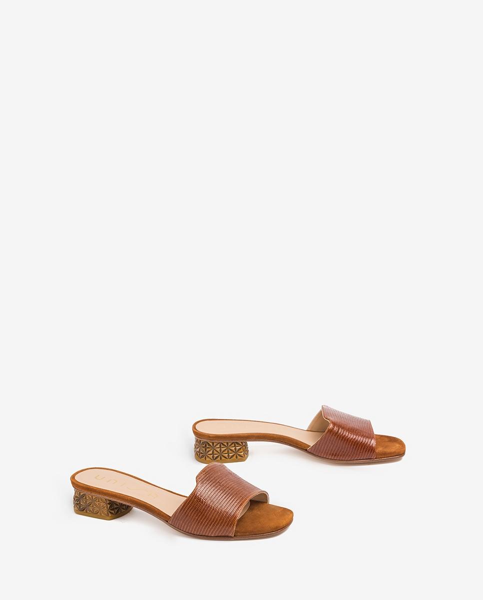 UNISA Engraved leather loafers DAVEPA_LI_KS cuir 2