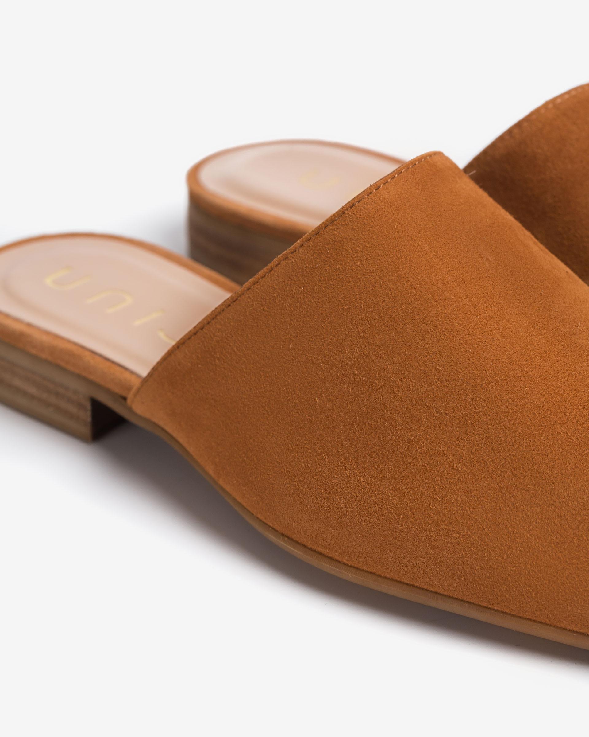 UNISA Kid suede slingback loafers DOJAN_KS 2