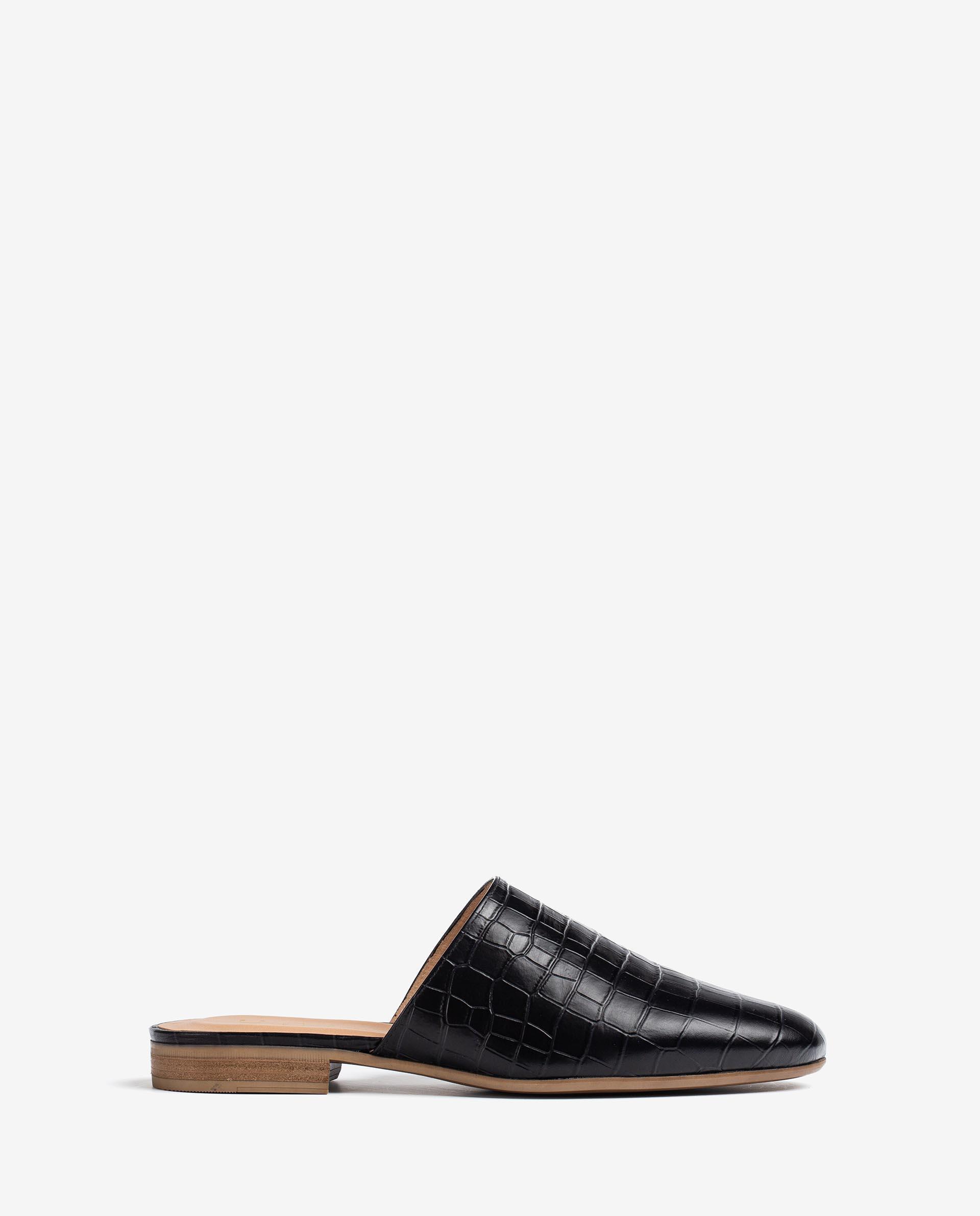 UNISA Croc effect leather slingback loafers DOJAN_LAU 2