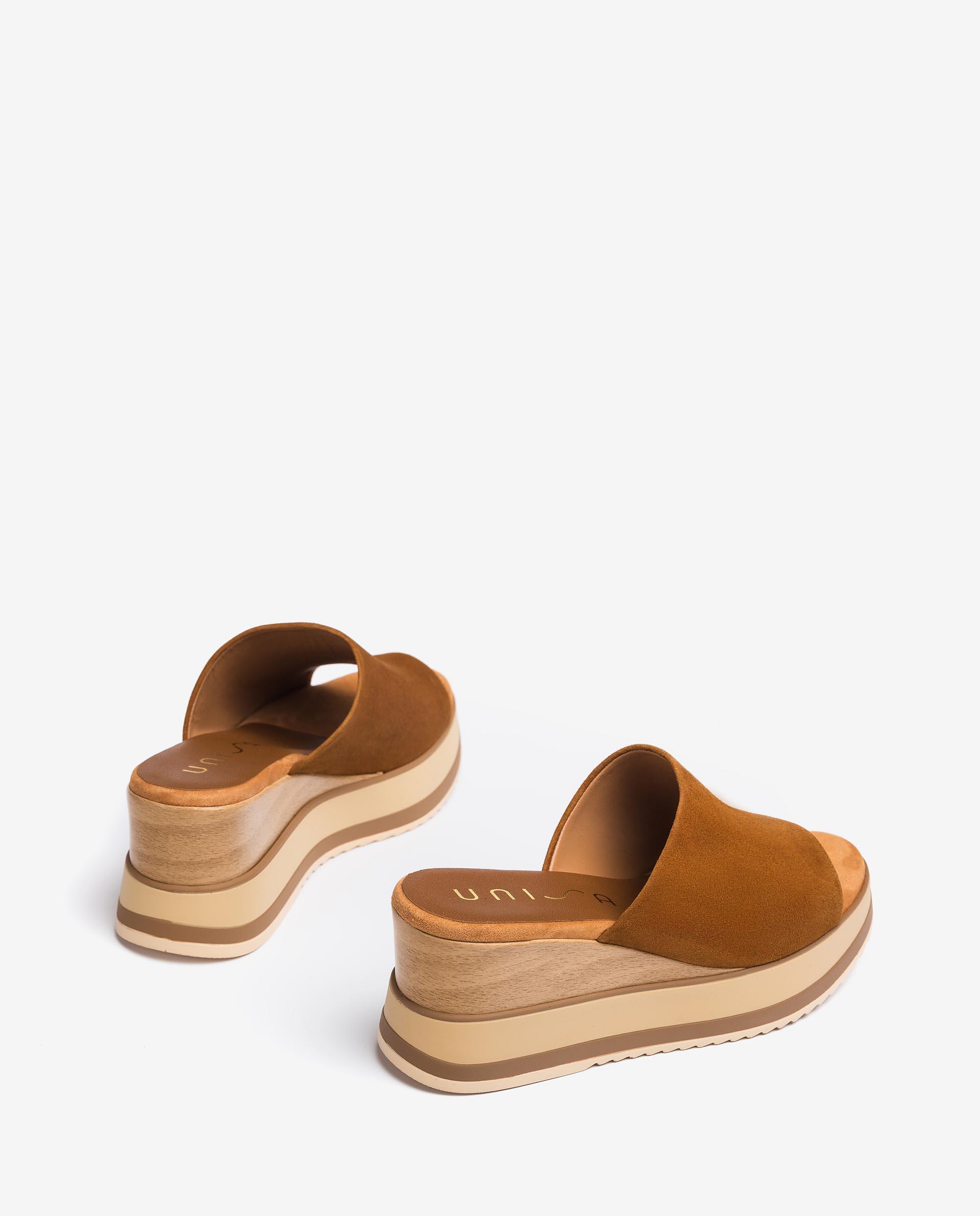 UNISA Wooden effect wedge sandals KALANI_KS 2