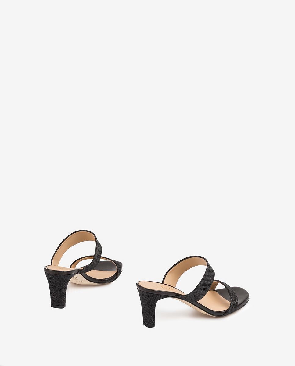 UNISA Shiny double strap mules MANTO_EV_NA black 2