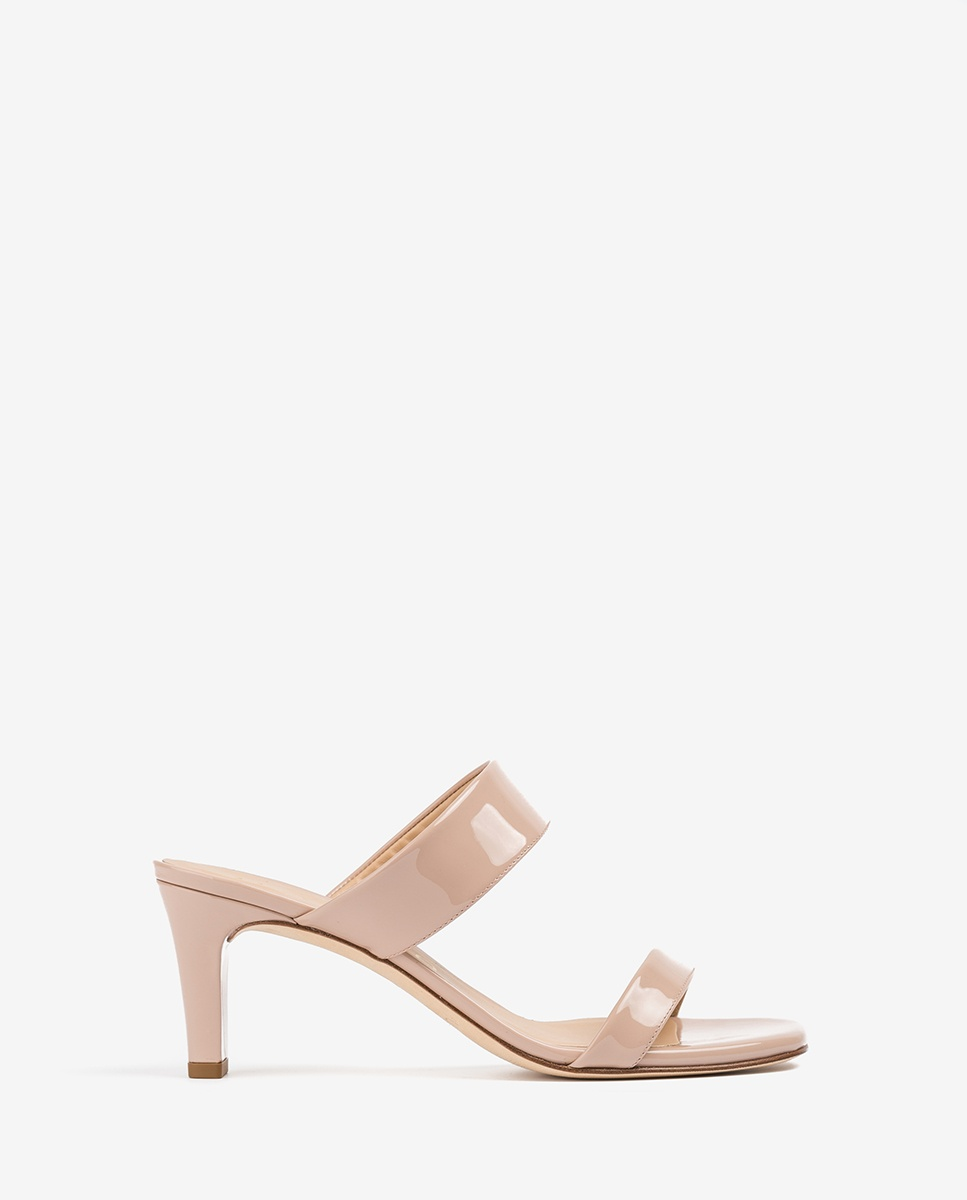 UNISA Nude double straps mules MANTO_PA dusty 2