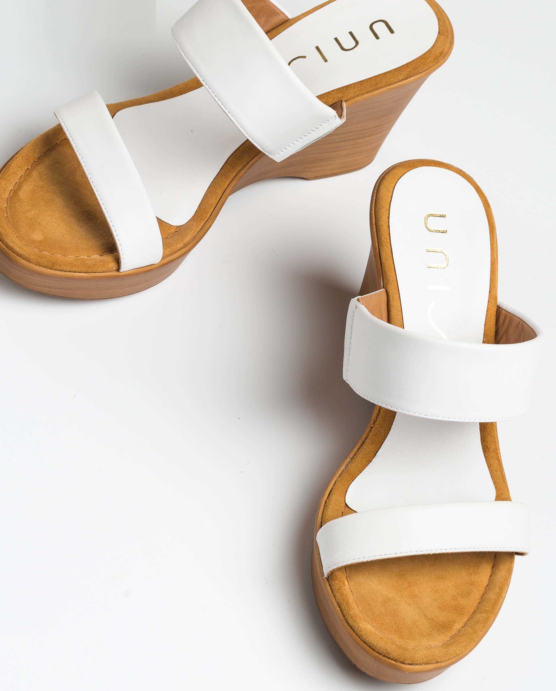 UNISA White straps mules ROMEVA_NA white 2