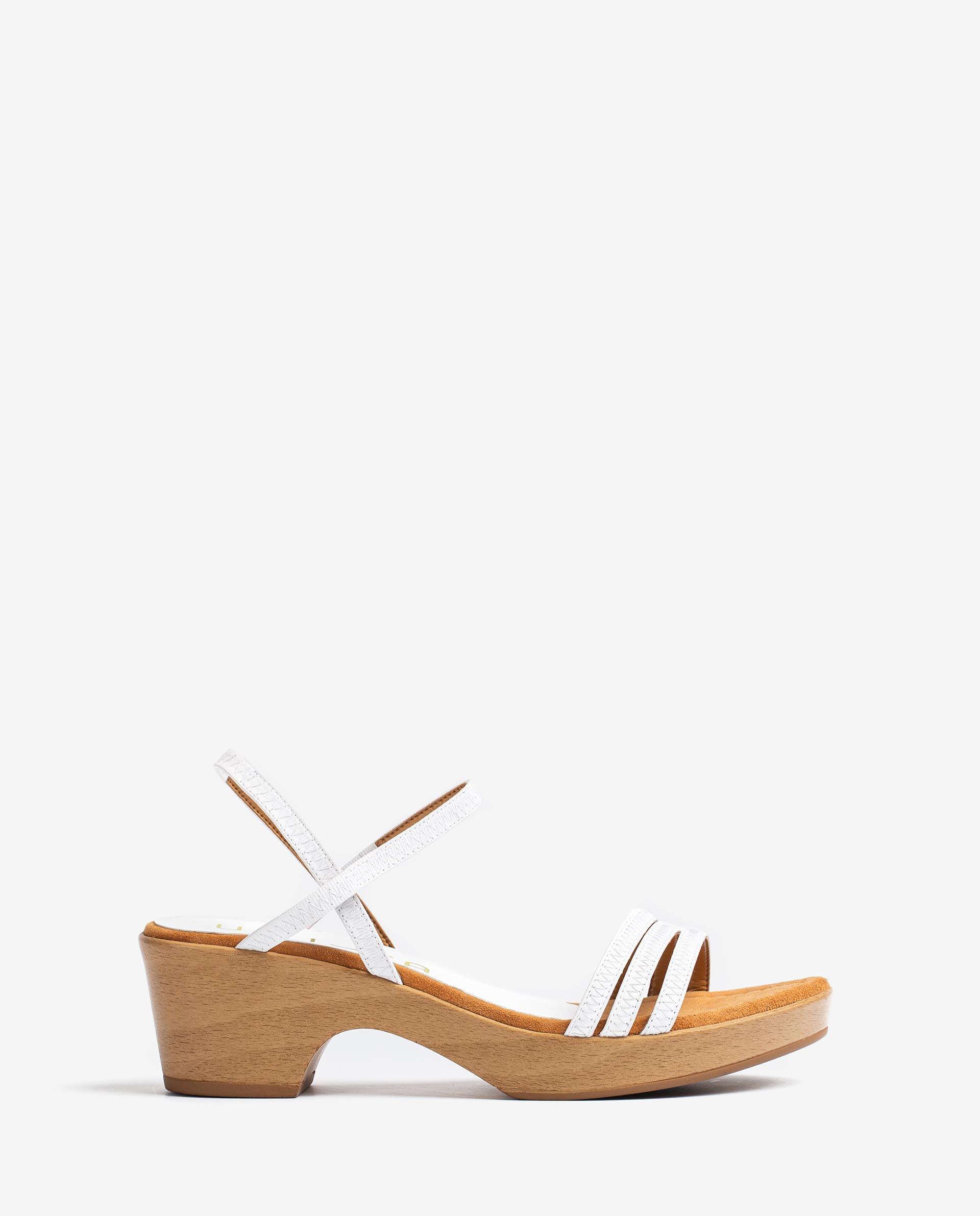 UNISA Sandalia de tiras con bloque efecto madera IBRILLO_NS