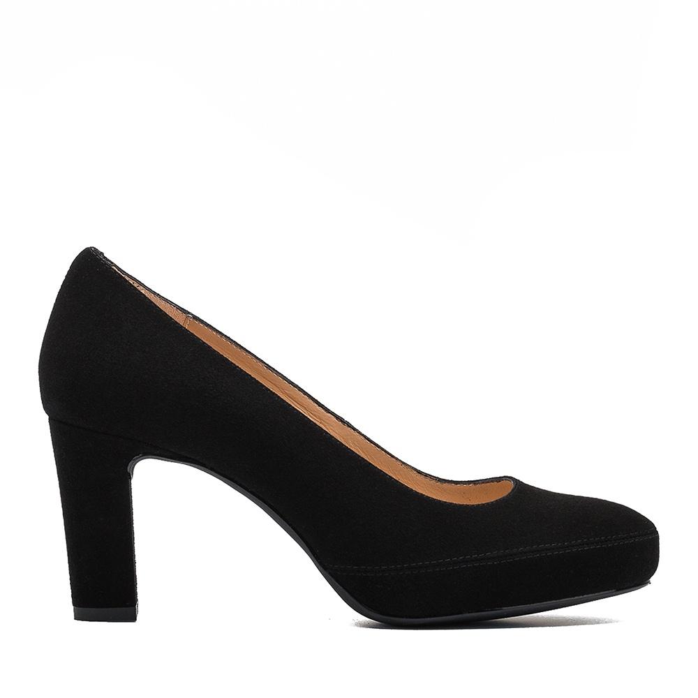UNISA Classic kid suede high heel pumps NUMAR_CLASSIC_F19_KS black 2
