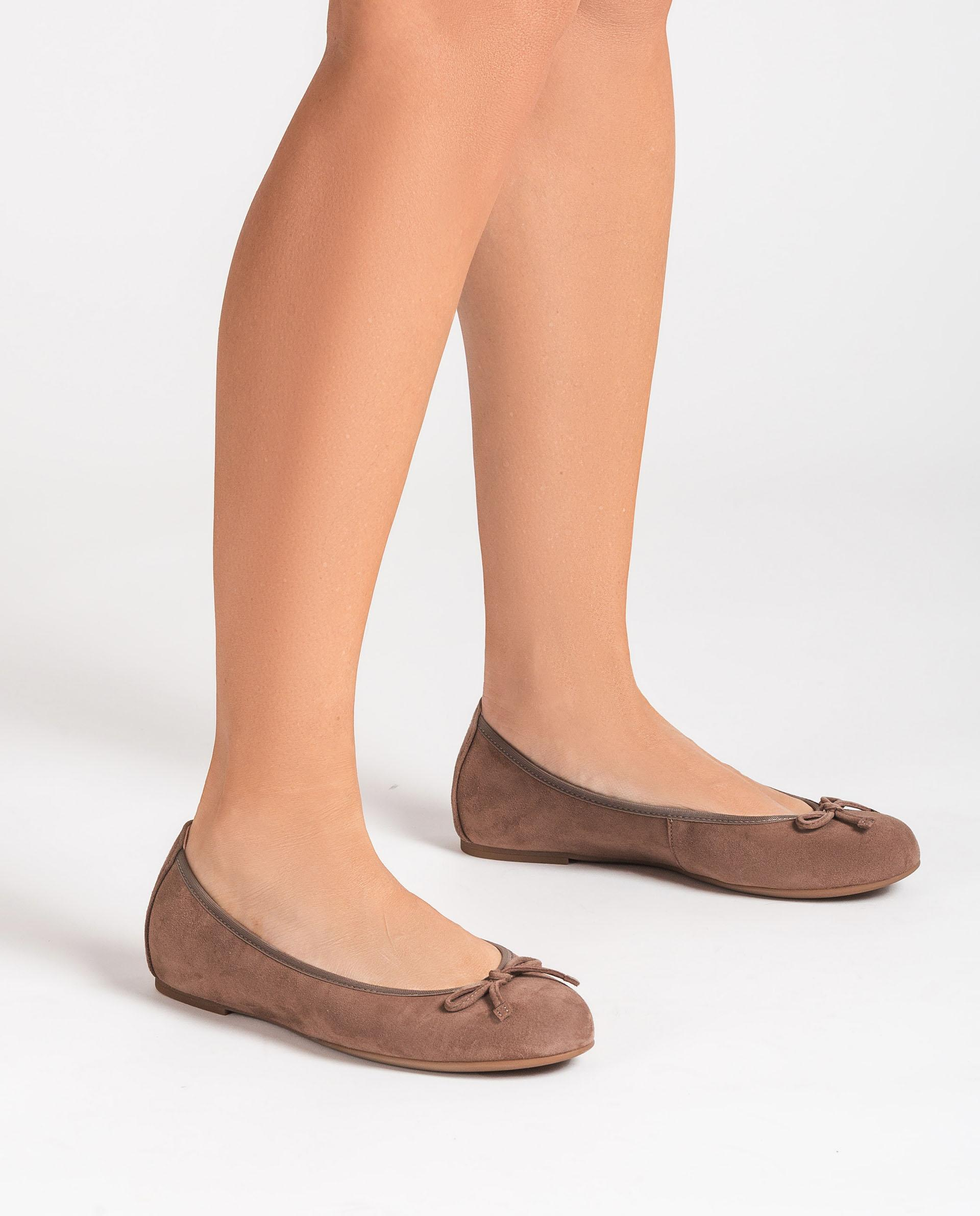 UNISA Kid suede ballerinas round toe ACOR_21_KS 2