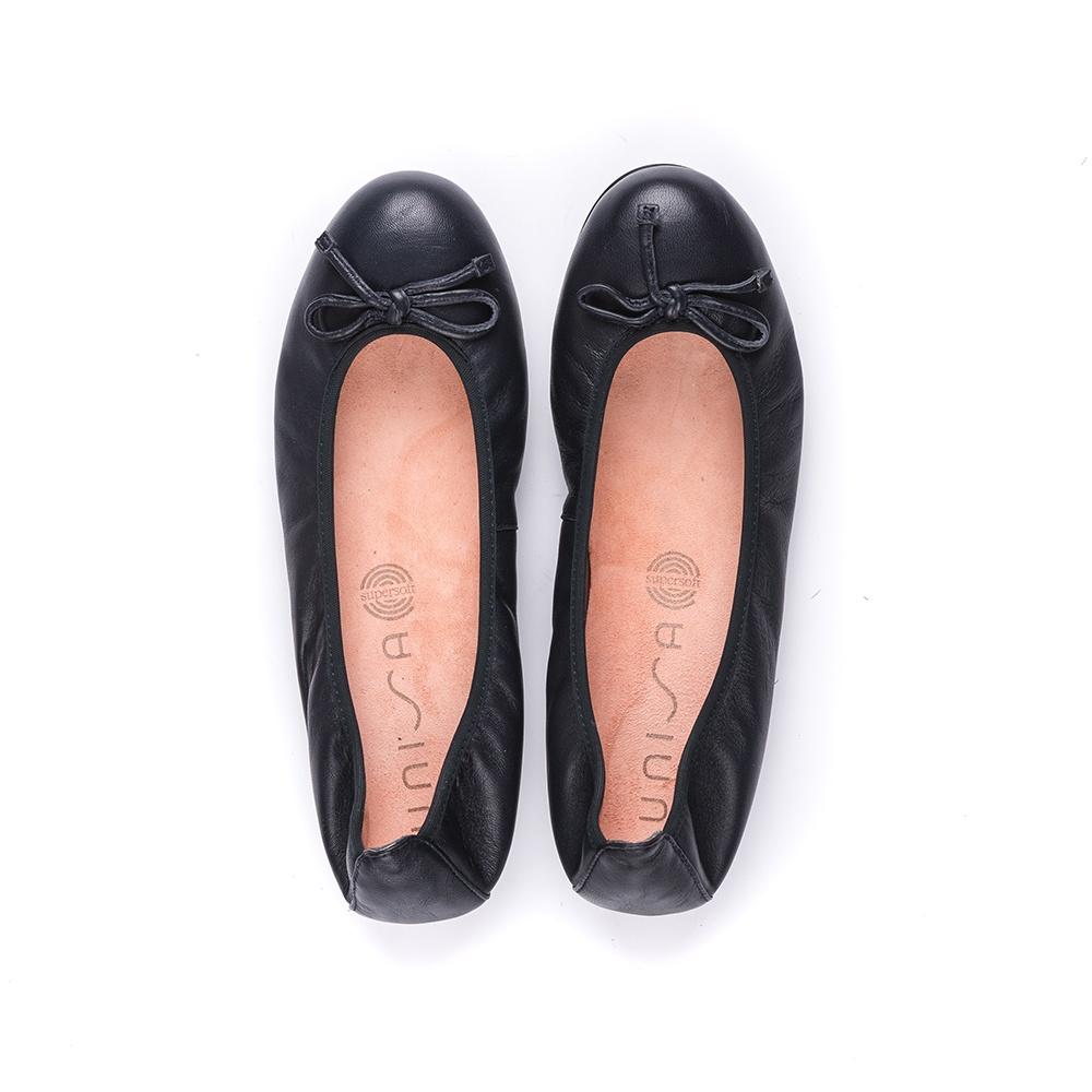 UNISA Leather ballerina ACOR_F19_NS abyss 2