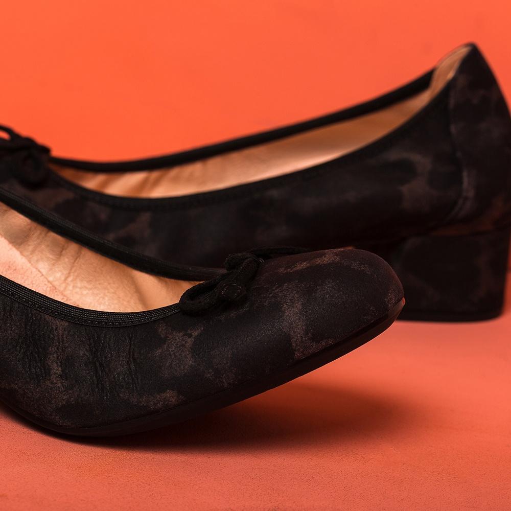 UNISA Animal print heeled ballerinas LACOR_F19_JA rhino 2