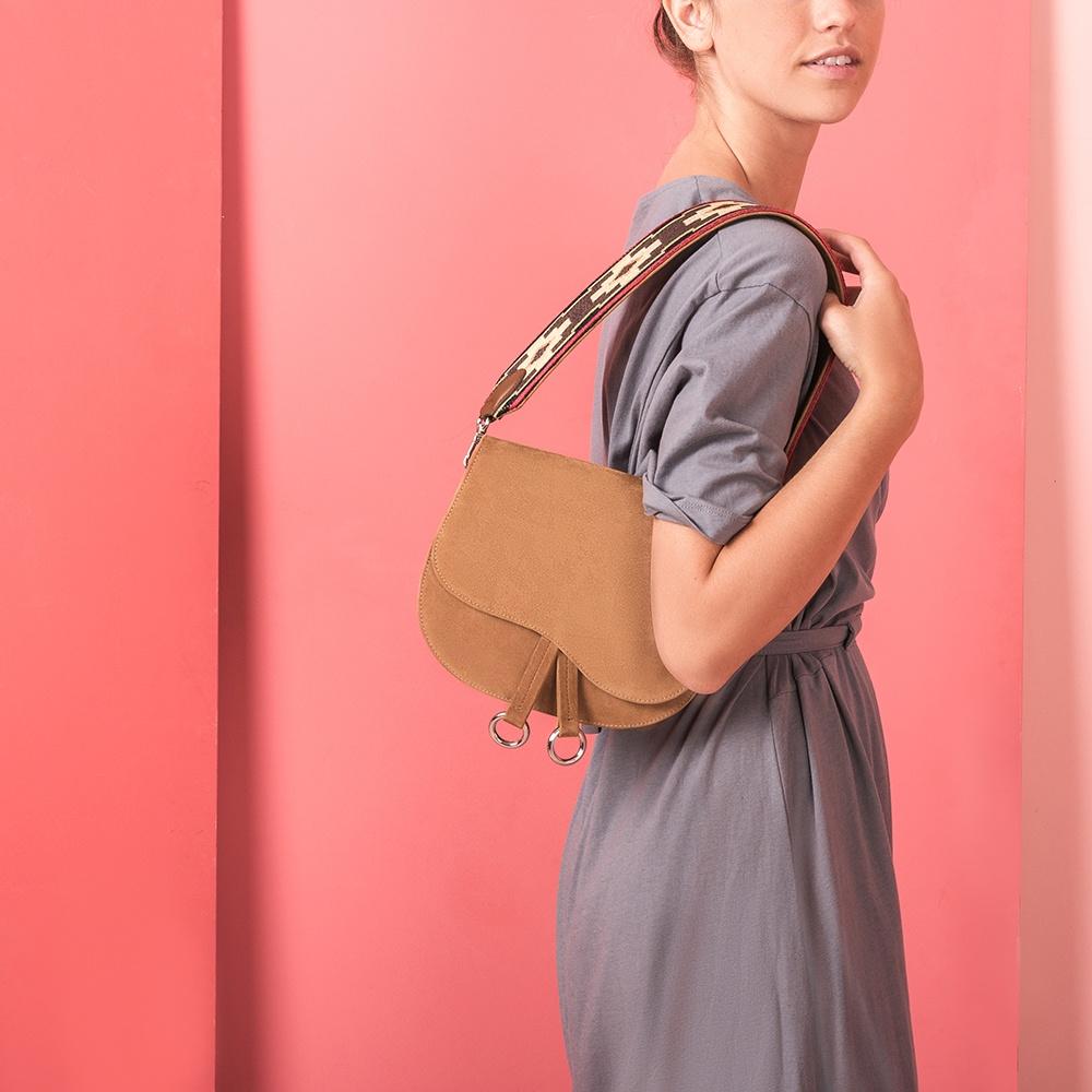 UNISA Western camel handbag ZFORZO.ETNIC_KS cobnut 2