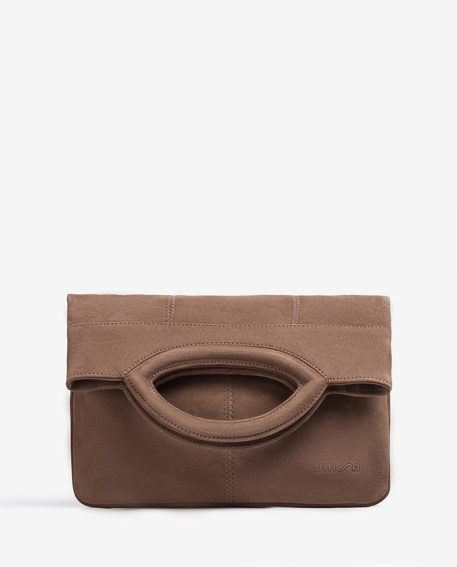 UNISA Kid sued bag with folded flap ZGALATE_KS 2