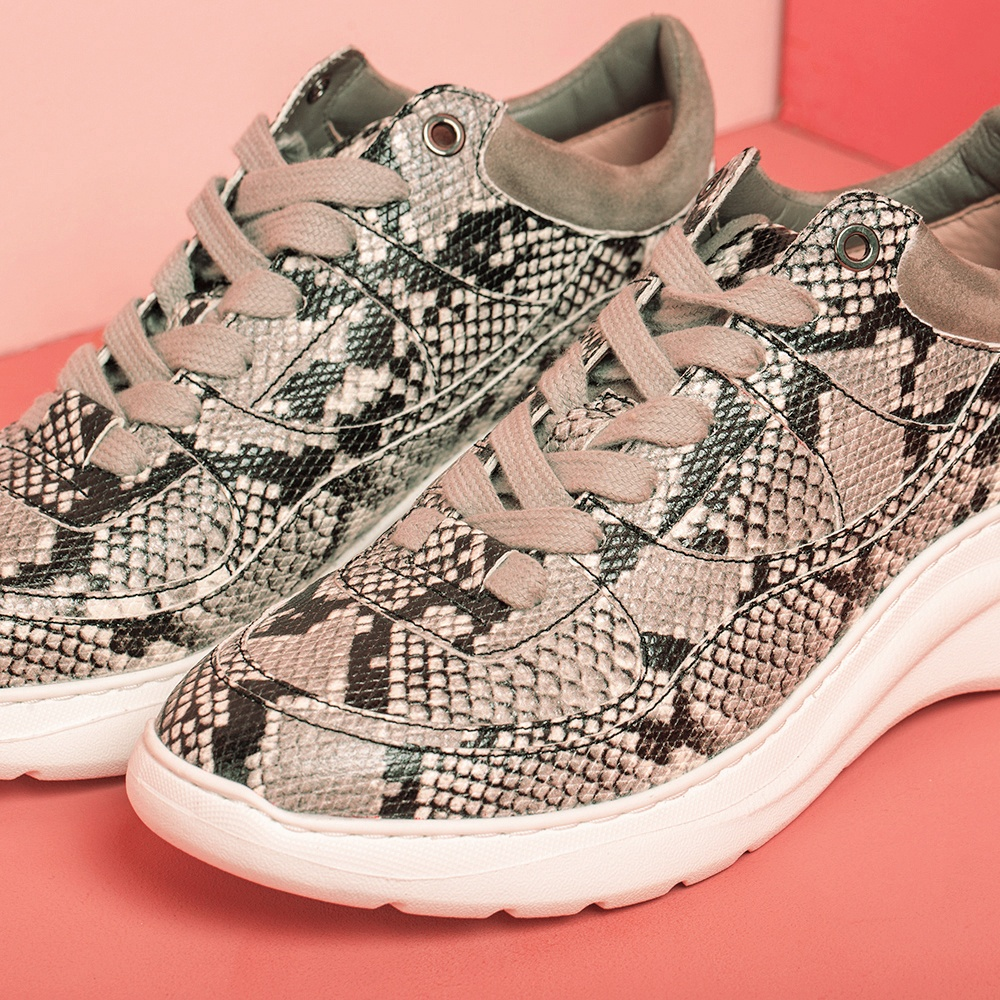 UNISA Animal print volume sneakers ESPE_VP_KS ivory/taup 2