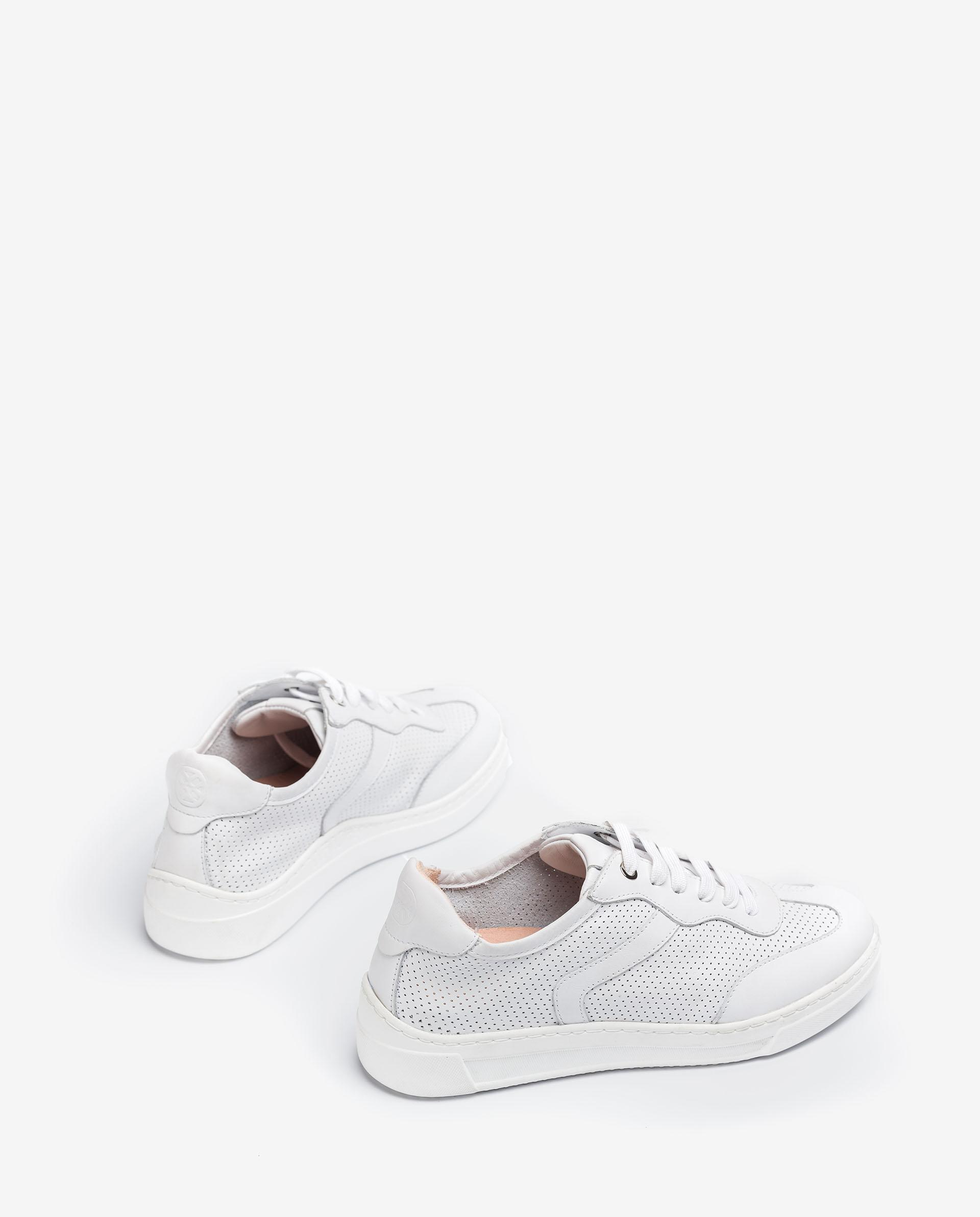 UNISA Perforation details leather sneakers FUAD_NF 2