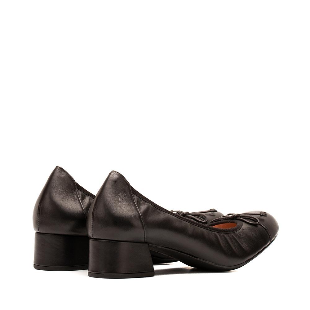 UNISA Leather ballerinas with heel LAUTO_F19_NA black 2