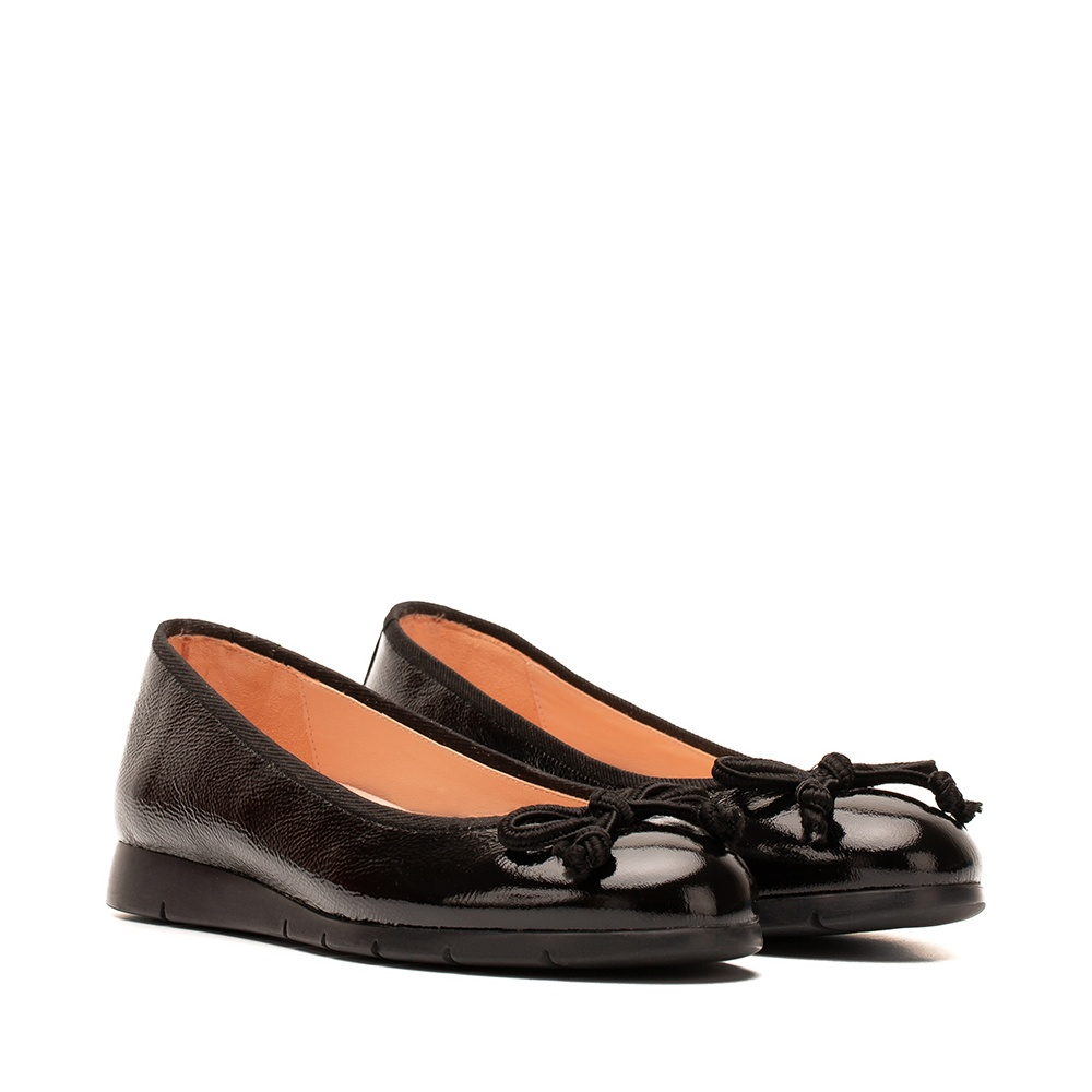 UNISA Patent leather ballerina rubber sole ALCOT_F19_PCR black 2