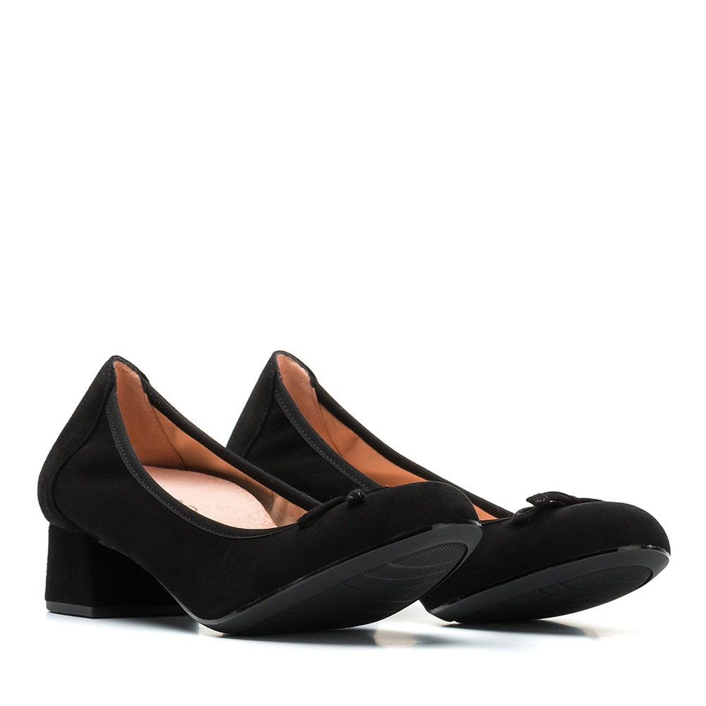 UNISA Kid suede heeled ballerinas LACOR_F19_KS black 2