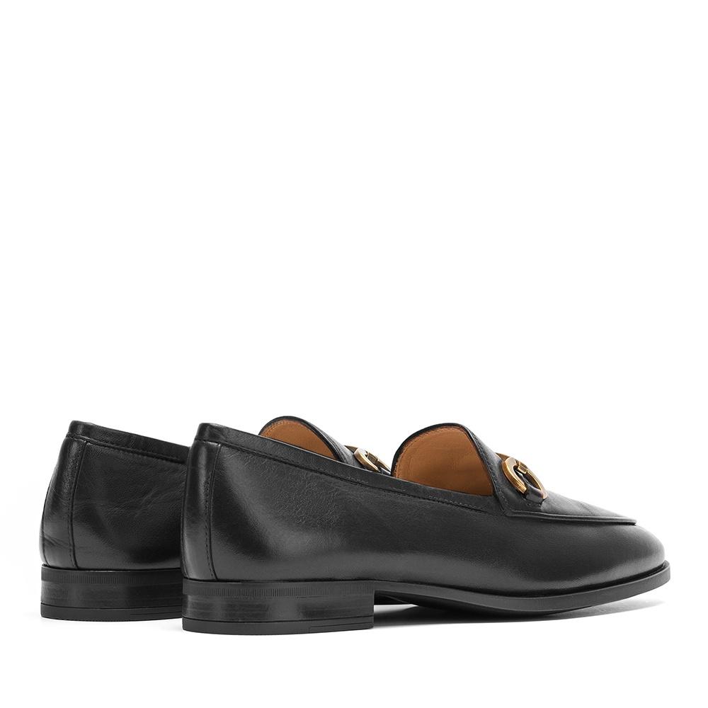 UNISA Black leather loafer link DAIMIEL_NA black 2