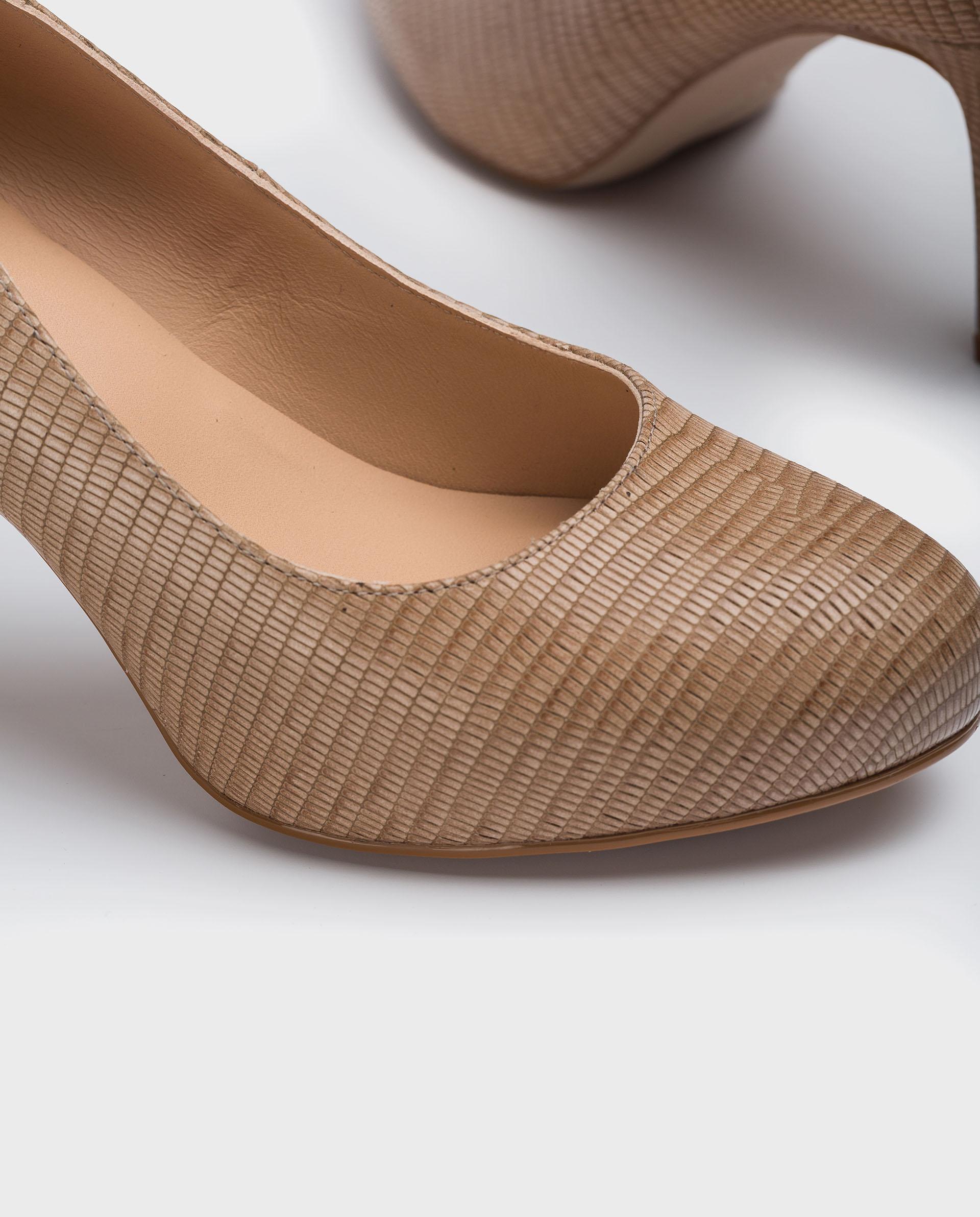UNISA Croc effect leather round toe pumps NUMIS_21_BTJ 2