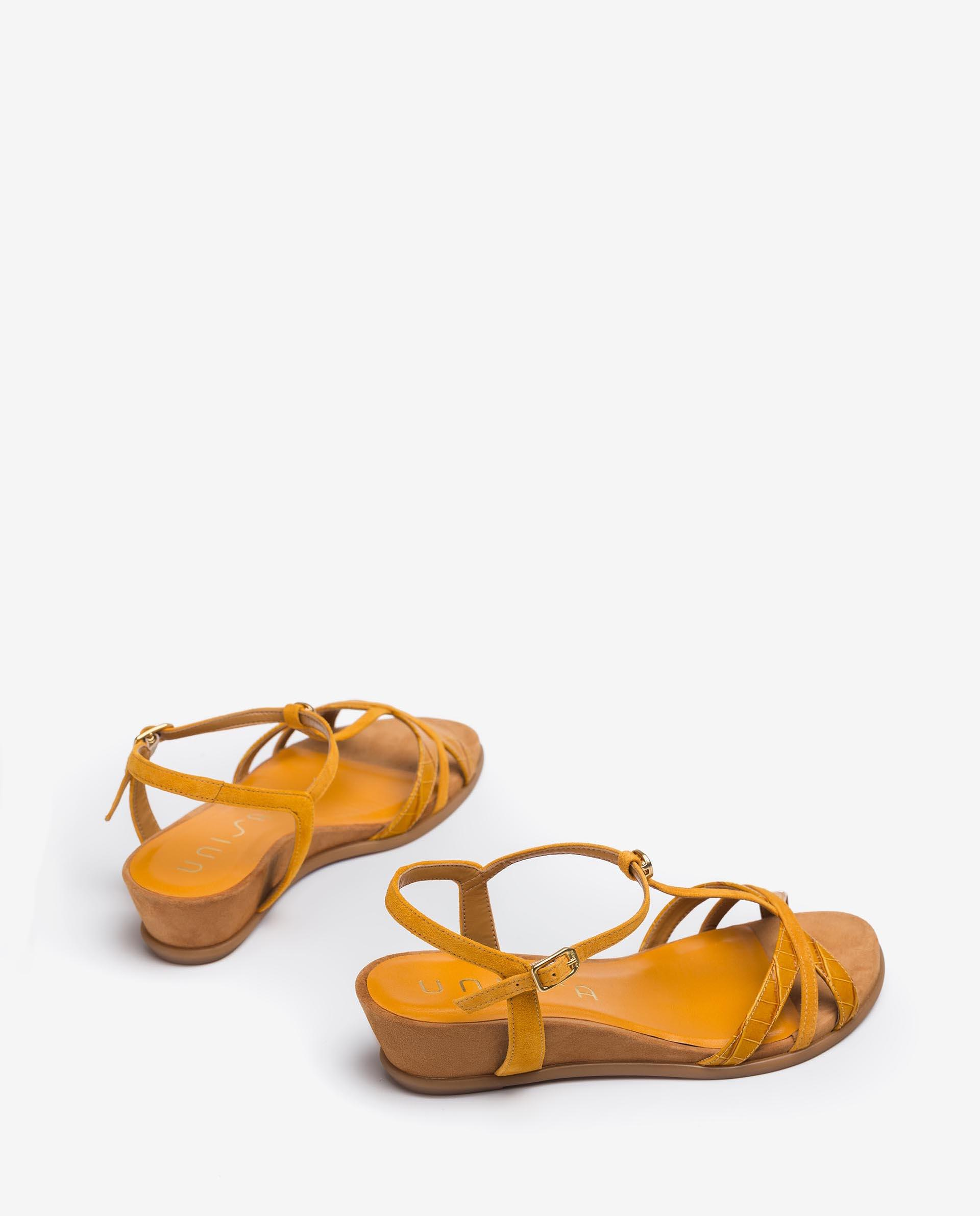 UNISA T-strap sandals with kid suede straps BINAR_21_LAU_KS 2