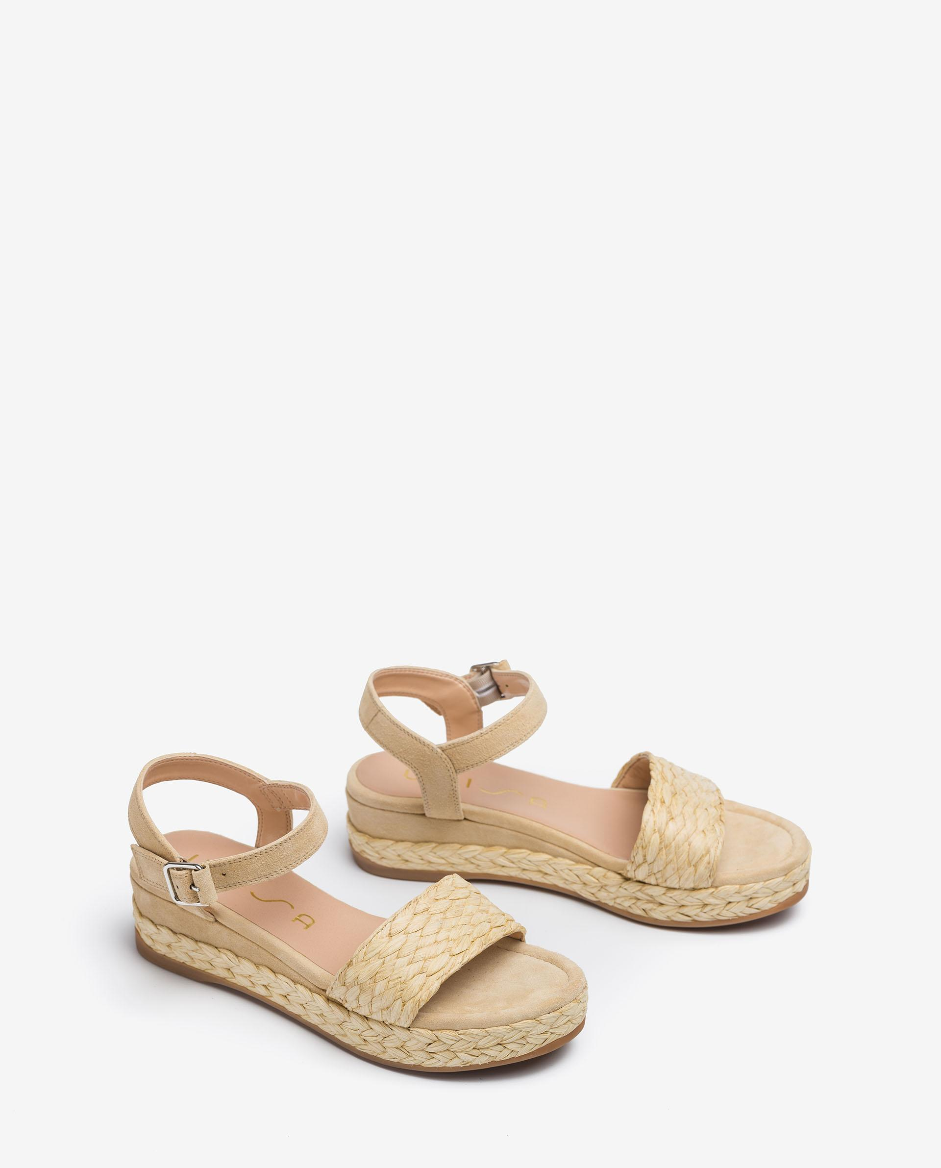 UNISA Braided kid suede sandals GABIR_21_KS 2