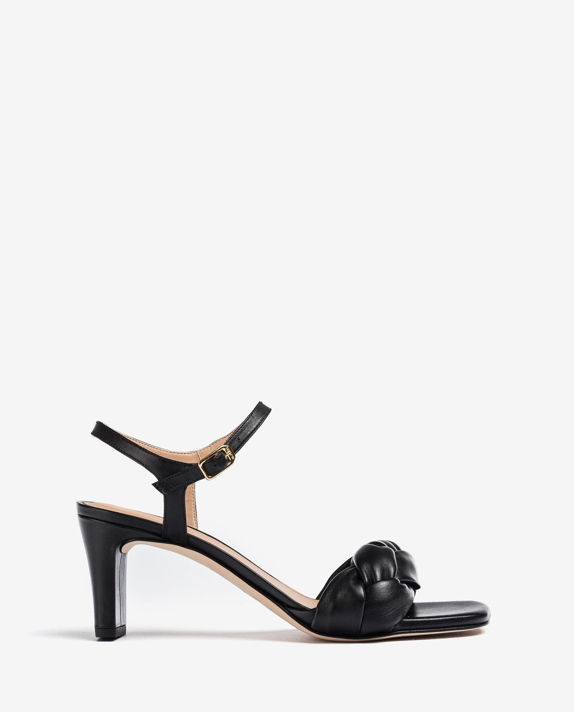 UNISA Mule crossed leather sandals MANDAY_NS 2