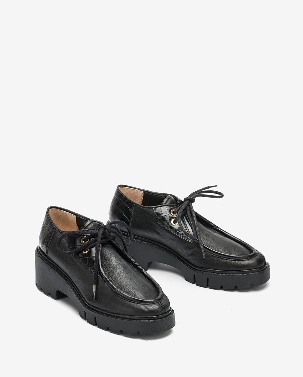 UNISA Wallabee shoes track soles JILITO_CRE black 2