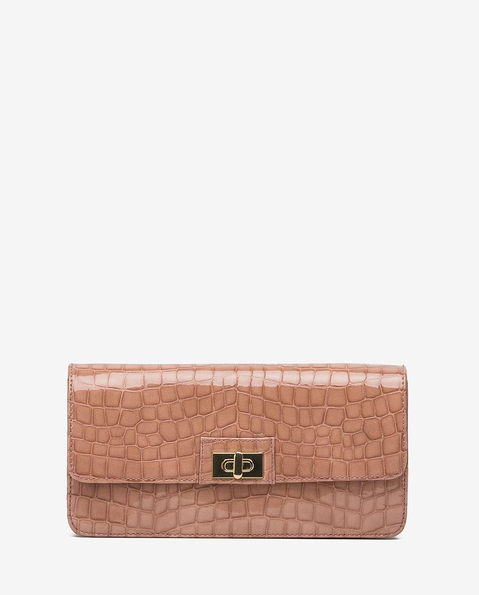 UNISA Croc effect patent leather handbag ZANASE_CSH tiffany 2