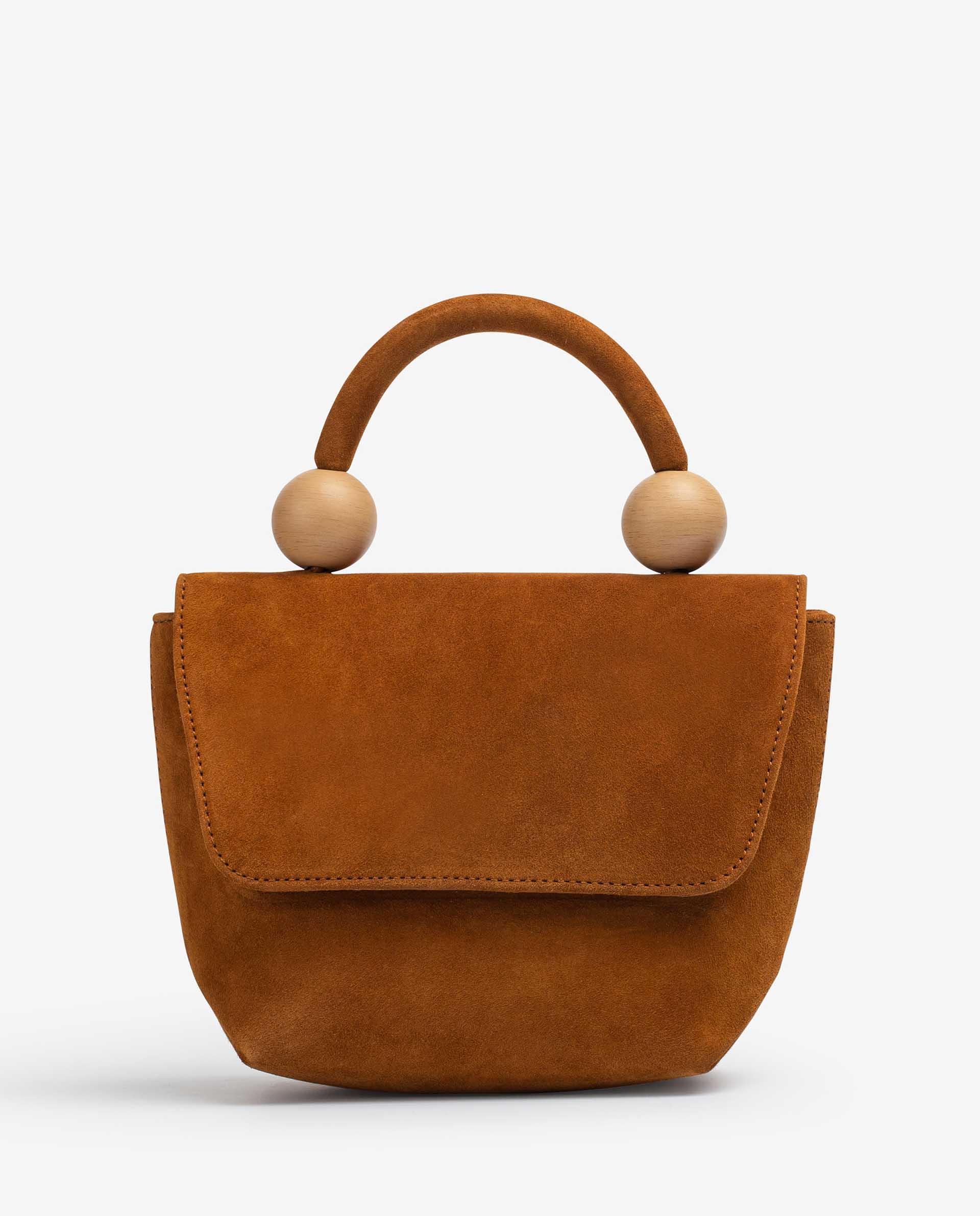 UNISA Handbag with wood effect ornament ZGILES_KS 2