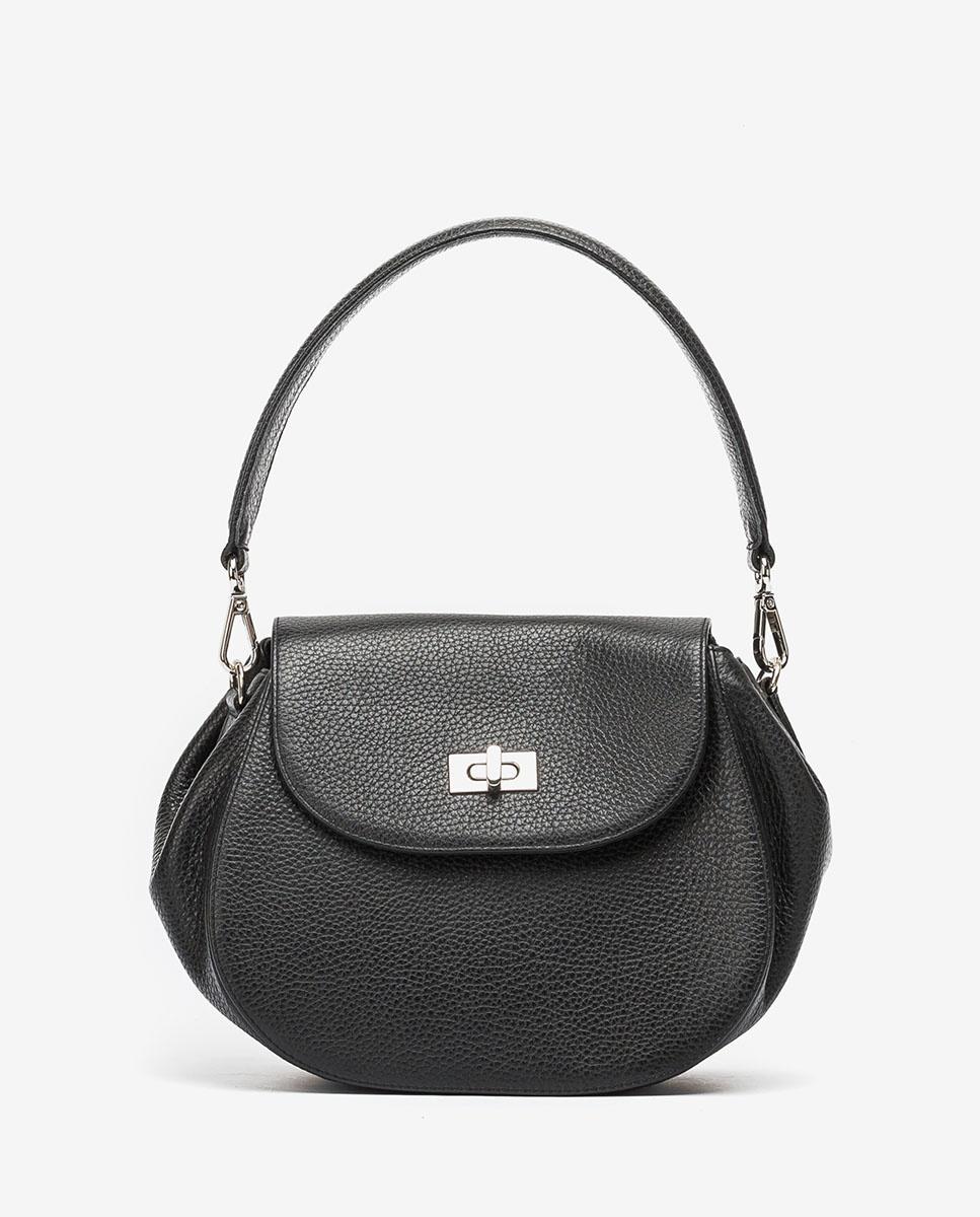 UNISA Leather shoulderbag ZGRAPON_MM black 2
