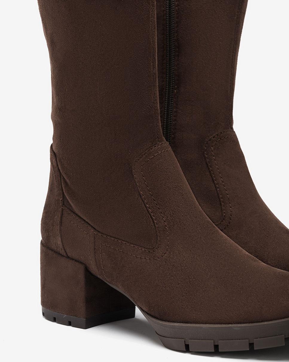 UNISA Brown elastic boots JOSAN_ST truffle 2