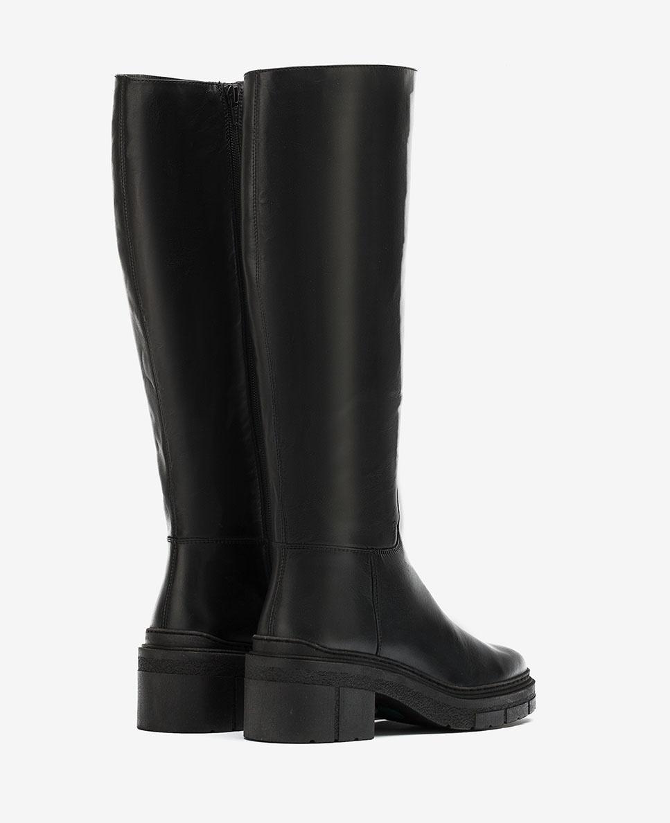 UNISA Leather boots track sole JOSUA_NF black 2