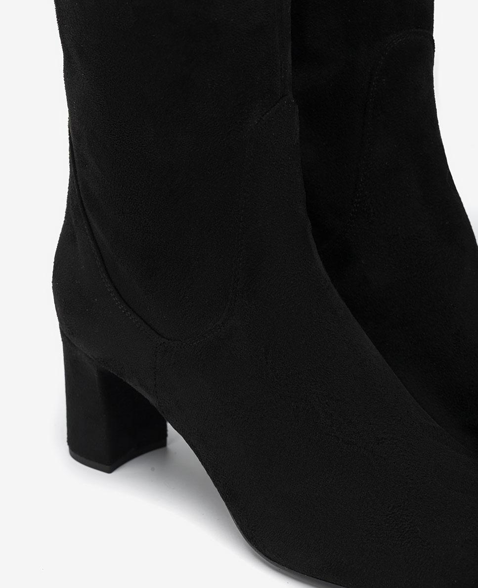UNISA Black elastic heeled boots MATOS_ST black 2