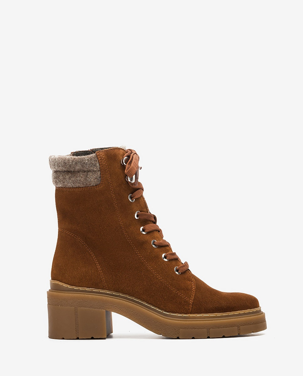 UNISA Brown mountain ankle boots with ecowool JARACO_BS wonka 2