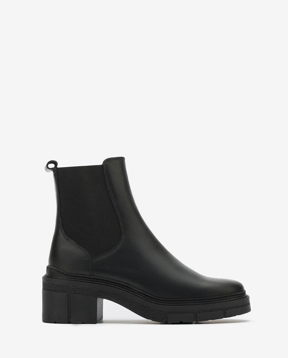 UNISA Black Chelsea ankle boots track soles JIMENEZ_NF black 2