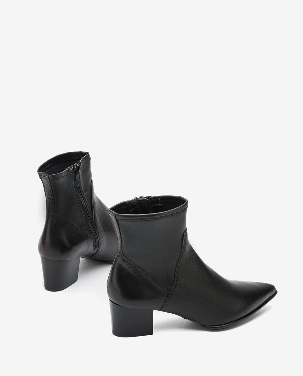 UNISA Black ankle boots with elastic shaft JUANDE_VU_STN black 2