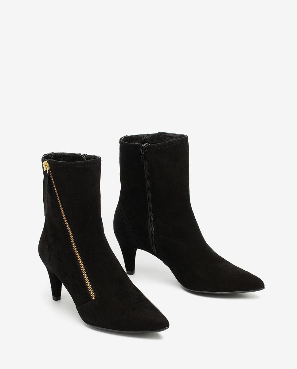 UNISA Black ankle boots with zip KAMILE_KS black 2