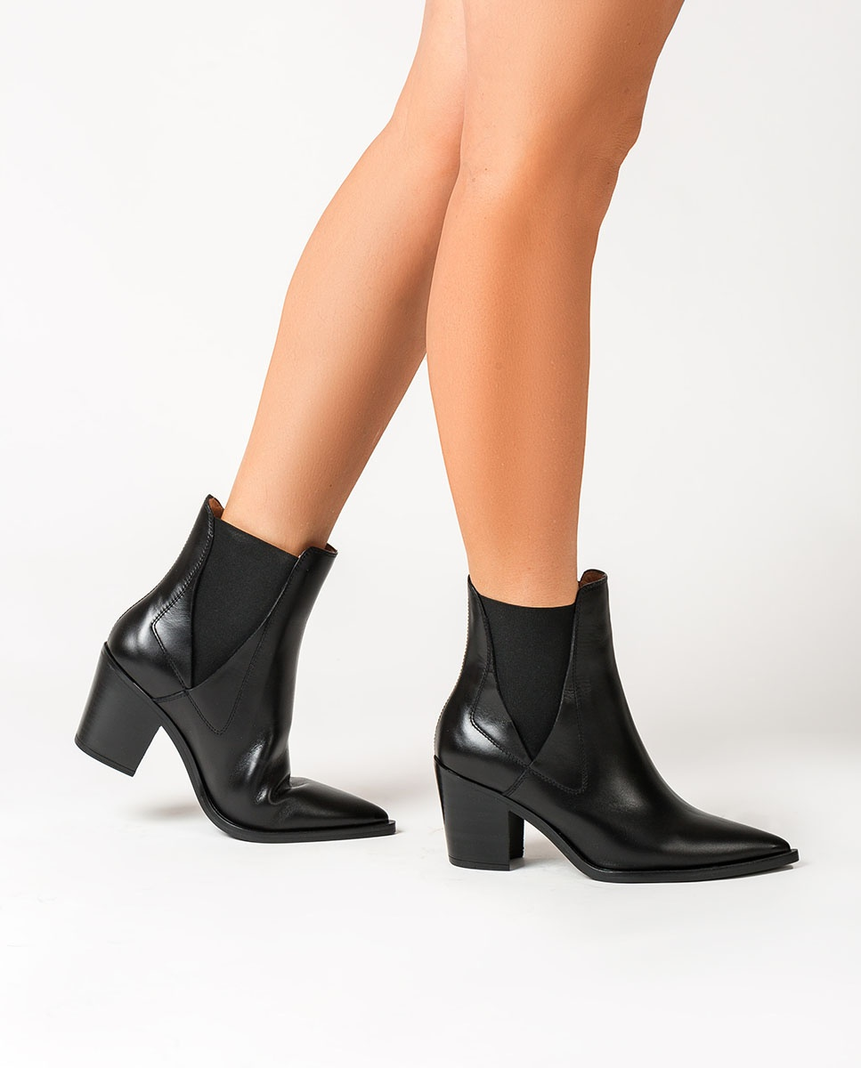 UNISA Chelsea Cowboy ankle boots MUNIS_NE black 2
