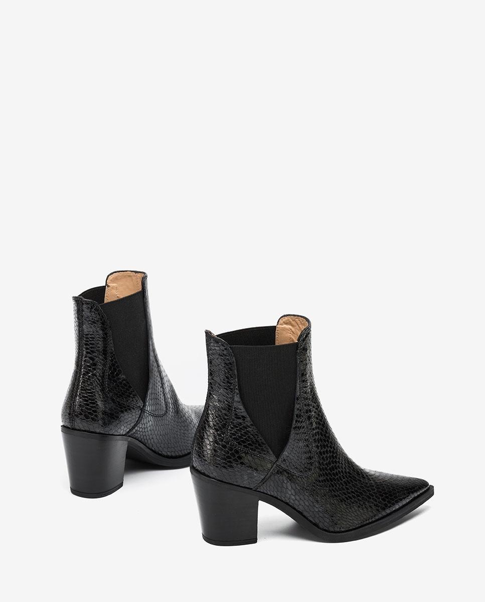 UNISA Snake effect Cowboy ankle boots MUNIS_VSH rhino 2
