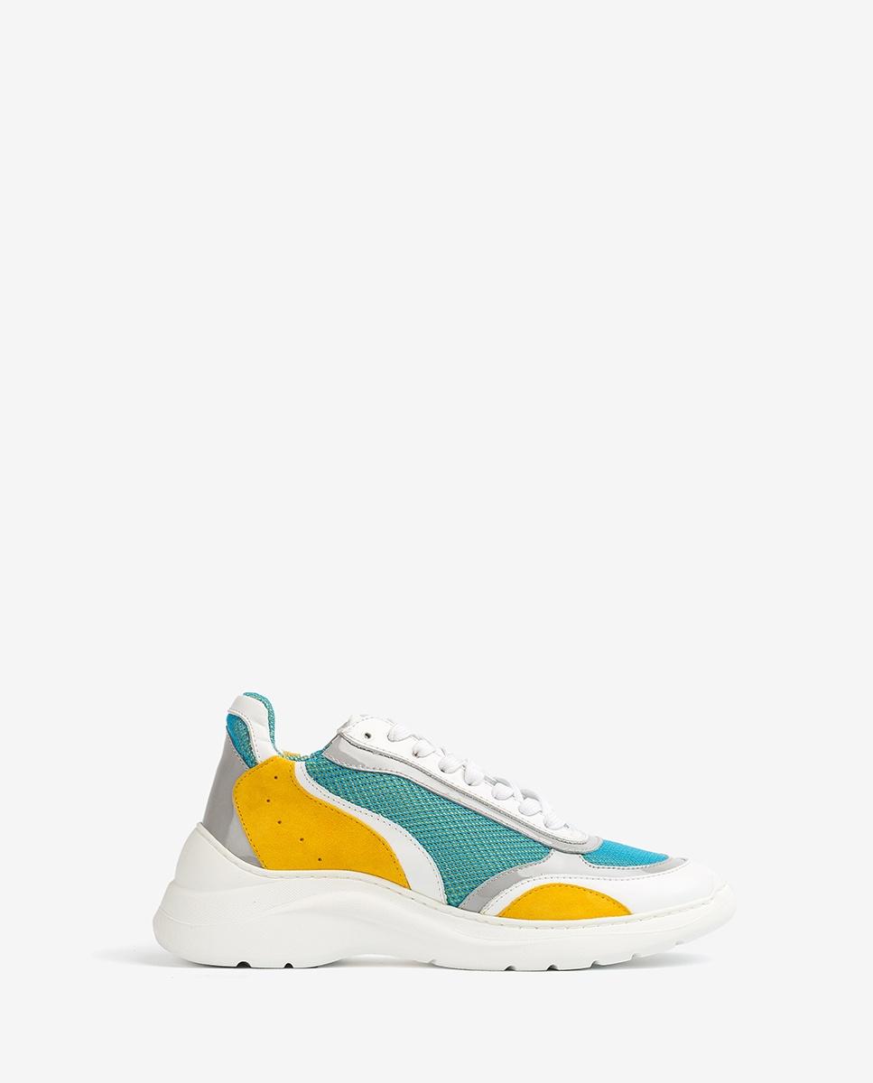 UNISA Multicolour contrast sneakers ESCACE_20_MULTI white/limo 2